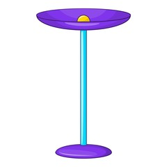 Table lamp icon. Cartoon illustration of lamp vector icon for web design