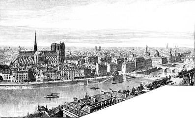 Panorama of the City and the left bank, taken from Saint-Gervais