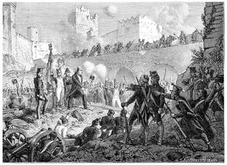 Resolution of the garrison of Badajoz die with weapons in hand,