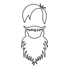 Male avatar with beard icon. Outline illustration of male avatar with beard vector icon for web