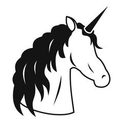 Unicorn icon. Simple illustration of unicorn vector icon for web