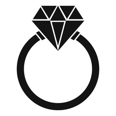 Ring LGBT icon. Simple illustration of ring LGBT vector icon for web