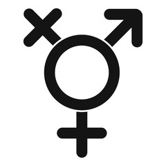 Transgender sign icon. Simple illustration of transgender sign vector icon for web