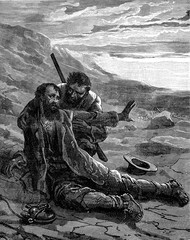 Burke's death in Australia. He died in the midst of dry sands of