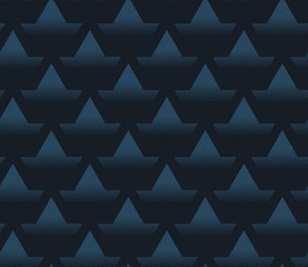 Seamless geometric vector pattern with shapes overlaping each other in rows