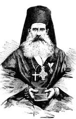 Montenegrin bishop. vintage engraving.