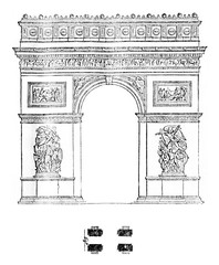 Arc of the Star, vintage engraving.
