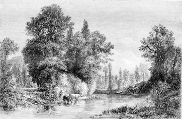 Exhibition of 1861, Banks of the Seine at Saint-Julien near Troy