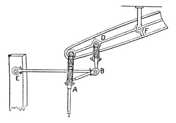 Parallelogram watt, vintage engraving.