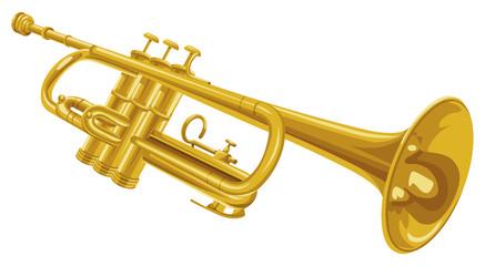 Vector of trumpet.