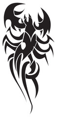 Tattoo design of scorpion, vintage engraving.