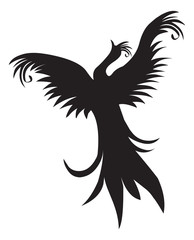 Tattoo design of bird, vintage engraving.