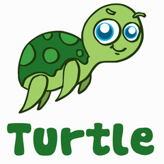 Cartoon turtle for t-shirt design
