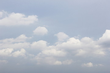 Soft blue sky with white cloud background