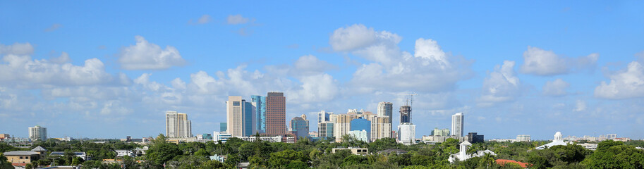 Panaramic view of Fort Lauderdale's skyline Wall mural