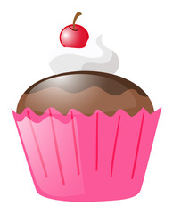 Cupcake  in pink cup