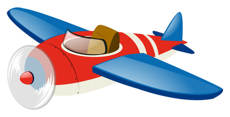 Red airplane with blue wings