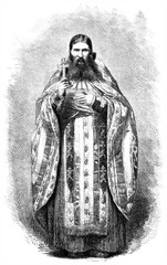 Russian Pope, vintage engraving.