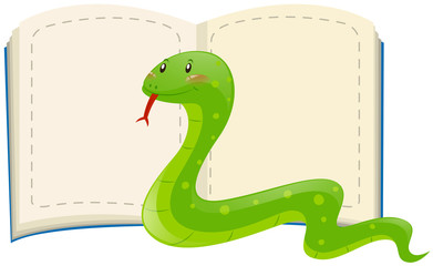 Wild snake and blank pages