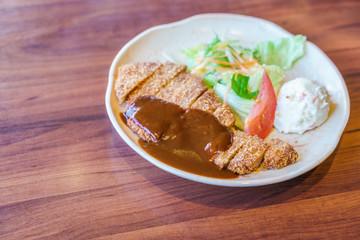 Japanese food style Teriyaki Chicken with rice