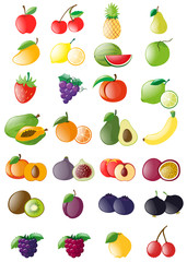 Different kinds of fresh fruits