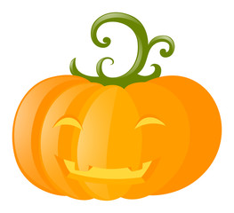 Halloween theme with jack-o-lantern