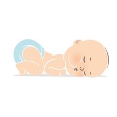 うつ伏せで寝る赤ちゃん