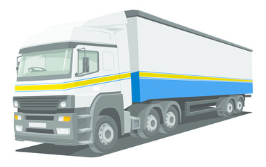 Vector of delivery truck.