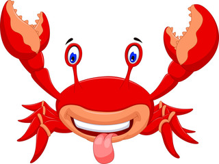 cute crab cartoon for you design