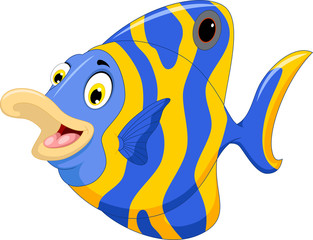 funny angel fish cartoon