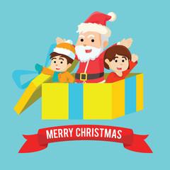 merry christmas present illustration design
