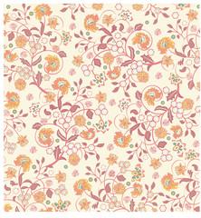 Vintage background with ornate elegant retro abstract floral des