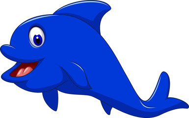 funny dolphin cartoon for you design