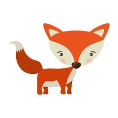 Little animal concept about cute fox design.  vector illustration