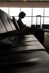 Airport awaiting atmosphere.