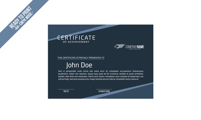 Elegant Certificate decorated template shapes vector