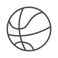 basketball ball sport equipment icon over white background. vector illustration