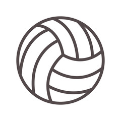volleyball ball sport equipment icon over white background. vector illustration