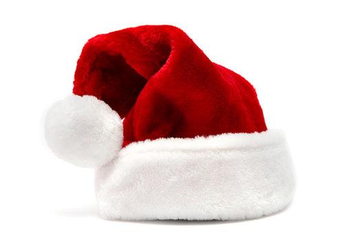 Christmas santa hat, isolated on white