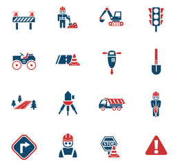 road repairs icon set
