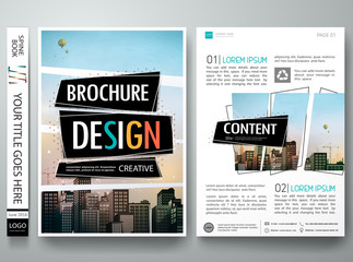 Brochure design template vector layout.Abstract square cover book portfolio presentation poster.City design on A4 brochure layout. Flyers report business magazine poster layout portfolio template.