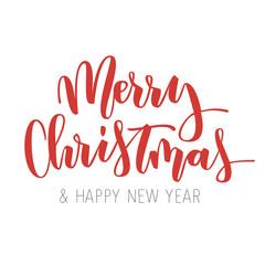 Merry Christmas hand written inscription