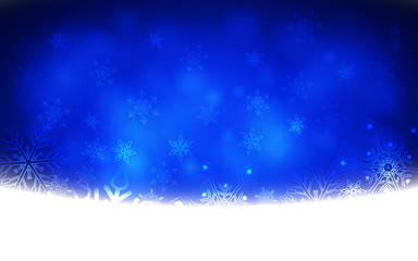 Winter Abstract Snowflake Background. Vector illustration.