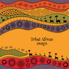 African background template for cover, magazine, banner, card and flyer design. Vector illustration.