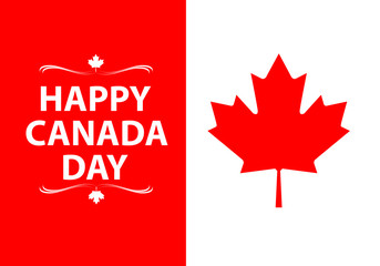 Flag of Canada vector illustration.