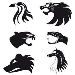 Logo abstract animals. Set - vector stock