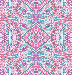 Vector Tribal Mexican  ethnic seamless pattern