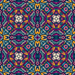Colorful ethnic seamless vector pattern