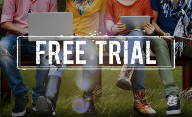 Free Trial Demo Offer Special Testing Bonus Concept