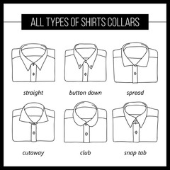 types of shirt collar